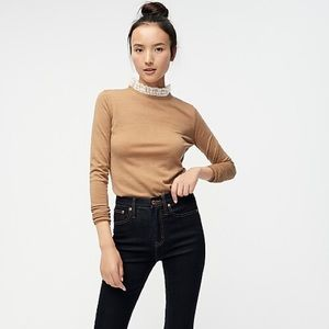 Tippi sweater with lace collar detail